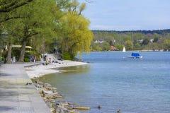 Lado do lago Starnberger Fotografia de Stock Royalty Free