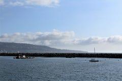 Lado do oceano de Portifino Califórnia em Redondo Beach, Califórnia, Estados Unidos fotos de stock royalty free