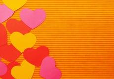 Lado esquerdo dos corações coloridos dos desenhos animados. Foto de Stock Royalty Free