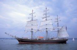 Lado izquierdo del sailship holandés Stad Amsterdam del entrenamiento Imagen de archivo