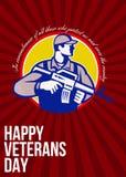 Lado moderno de la tarjeta de Veterans Day Greeting del soldado stock de ilustración