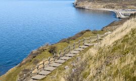 Lado oeste da ilha bornholm - Dinamarca Imagem de Stock Royalty Free