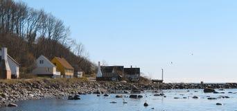 Lado oeste da ilha bornholm - Dinamarca Foto de Stock Royalty Free
