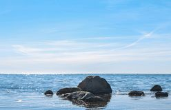 Lado oeste da ilha bornholm - Dinamarca Imagens de Stock Royalty Free