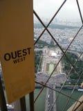 Lado oeste de la torre Eiffel Foto de archivo libre de regalías