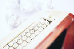 Lado rojo de la máquina escribir Fotografía de archivo