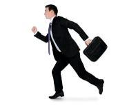 Lado running do homem de negócio Imagem de Stock