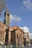 Lado sur del eustorgio de Sant, Milano Foto de archivo libre de regalías
