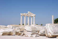 Lado - templo de Apollo Fotografia de Stock