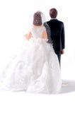 Lado traseiro de bonecas do casamento Imagens de Stock Royalty Free