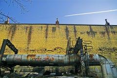 Lado traseiro do edifício velho Imagens de Stock