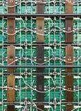Lado traseiro do painel da tela do diodo emissor de luz do RGB Fotos de Stock Royalty Free