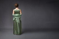 Lado trasero de la mujer elegante imágenes de archivo libres de regalías