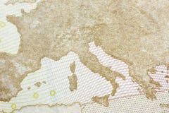 Lado trasero de un billete de banco del euro 50 Imágenes de archivo libres de regalías