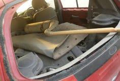 Lado trasero del coche analizado Foto de archivo libre de regalías