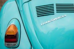 Lado trasero del coche de volkswagen del vintage foto de archivo libre de regalías