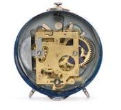 Lado trasero del reloj de alarma viejo Imagen de archivo libre de regalías