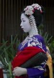 Lado-vista completa Maiko del retrato Imágenes de archivo libres de regalías