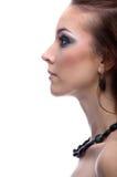 Lado-vista do modelo bonito Imagem de Stock Royalty Free