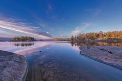 Ladoga-Blau Lizenzfreie Stockfotografie
