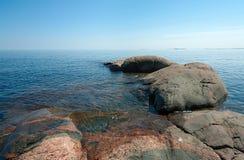 ladoga brzegowy kamień Zdjęcia Royalty Free