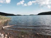 Ladoga jezioro przy latem Zdjęcia Stock