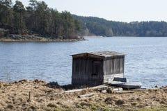 Ladoga jezioro w Karelia Obraz Stock