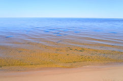 Ladoga lake by day. Royalty Free Stock Photo