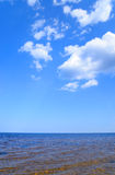 Ladoga lake by day. Royalty Free Stock Image