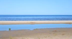 Ladoga lake by day. Stock Photo