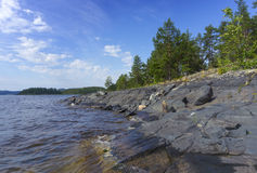 Ladoga lake in Karelia Stock Images