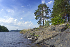 Ladoga lake in Karelia Royalty Free Stock Images