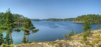 Ladoga lake, Karelia, Russia Royalty Free Stock Photo