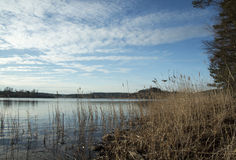 Ladoga lake in Karelia. Ladoga lake in spring Karelia Royalty Free Stock Photo