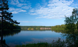 Ladoga lake panorama Stock Photos