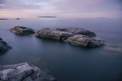 Ladoga lake. Quiet night on Ladoga lake Royalty Free Stock Images