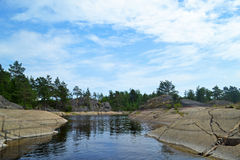 Ladoga lake Royalty Free Stock Images