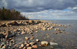 Ladoga lake shore Stock Image