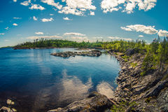 Ladoga lake. Skerry on Ladoga lake in Russia Royalty Free Stock Images