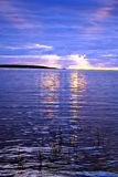 ladoga lakesolnedgång Arkivbilder