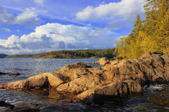 Ladoga See, Karelien, Russland stockfotos
