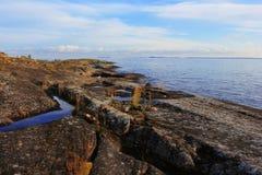 Ladoga See, Karelien, Russland lizenzfreies stockbild