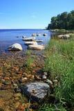 Ladoga-Ufer Stockbild