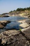 Ladoga-Ufer lizenzfreies stockbild