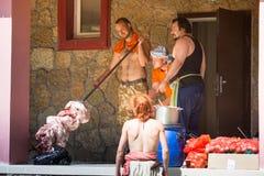 Ladogafest-2013 - International historical festival of medieval culture Stock Images