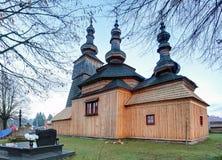 Ladomirova - ξύλινη εκκλησία Στοκ Εικόνα