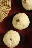 Ladoo di Rava - un piatto dolce indiano Fotografie Stock Libere da Diritti