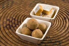 Ladoo indiano dos doces Imagens de Stock