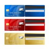 Lados de la tarjeta de crédito del vector dos Foto de archivo