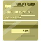 Lados do cartão de crédito dois Imagem de Stock